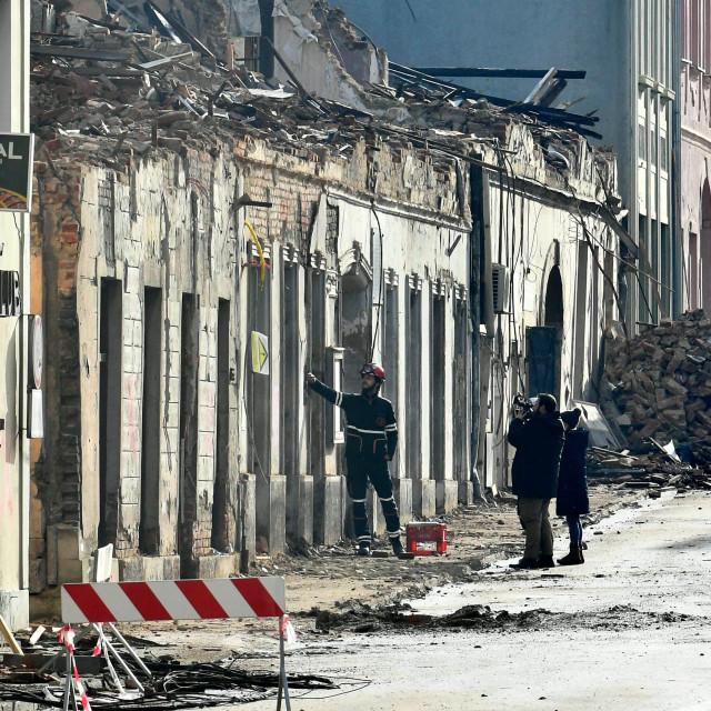 Atmosfera u gradu Petrinji