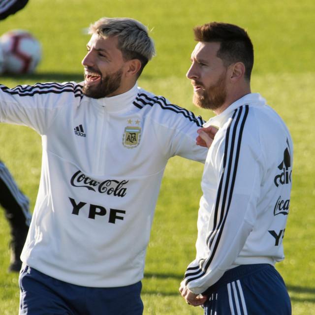 Sergio Aguero i Lionel Messi
