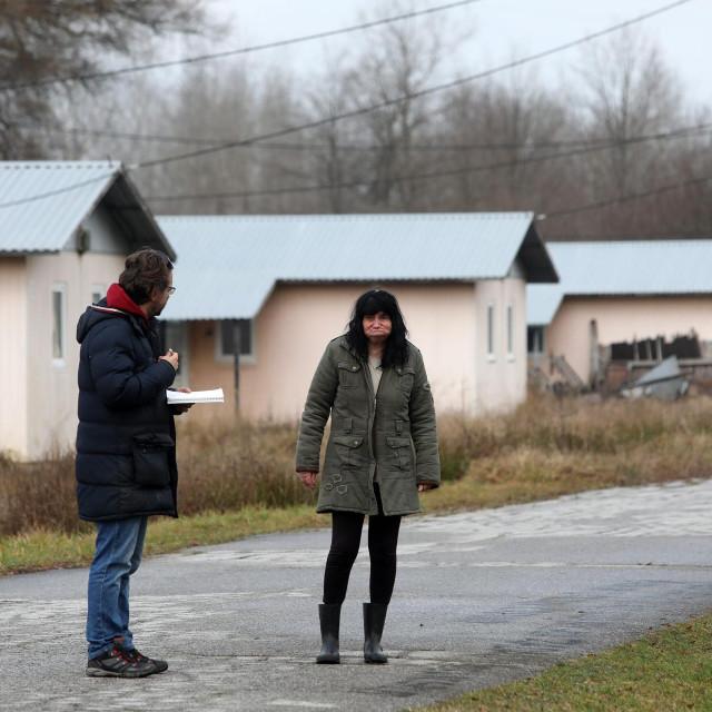 Ankica Džakić iz Vukovara, jedini je stanar napuštenog izbjegličkog kampa