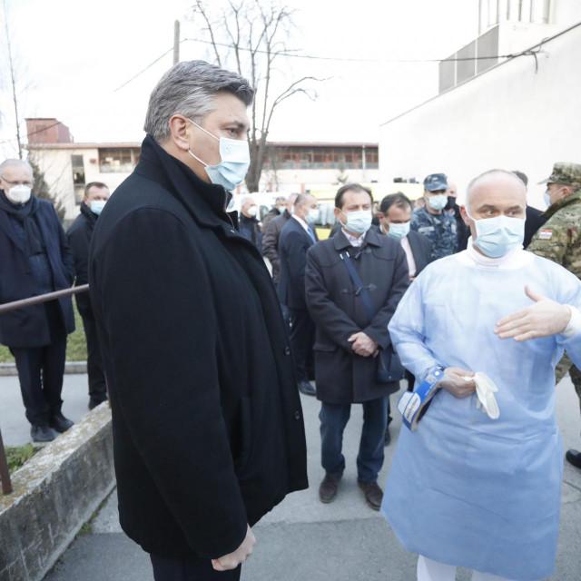 Andrej Plenković u Sisku / Arhiva<br />