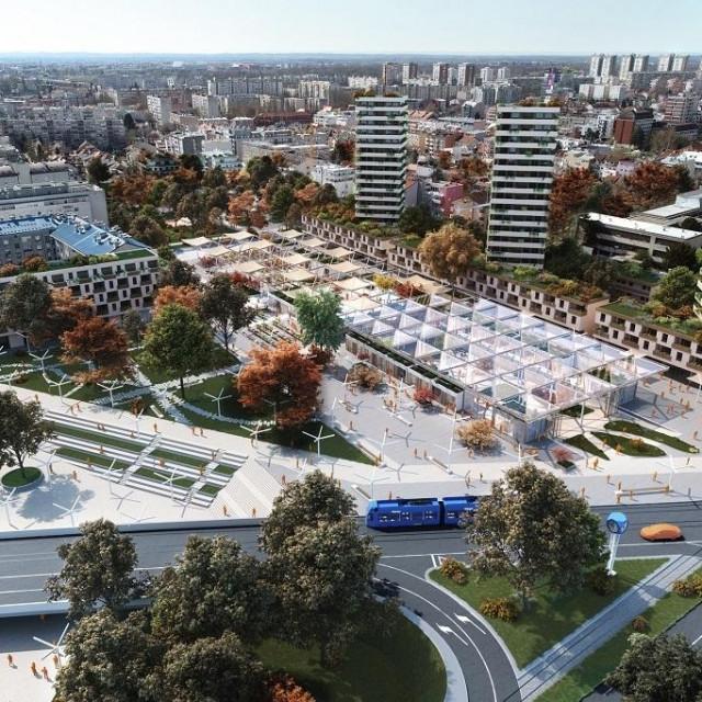 Urbanističko-arhitektonsko rješenje prostora središta Trešnjevke