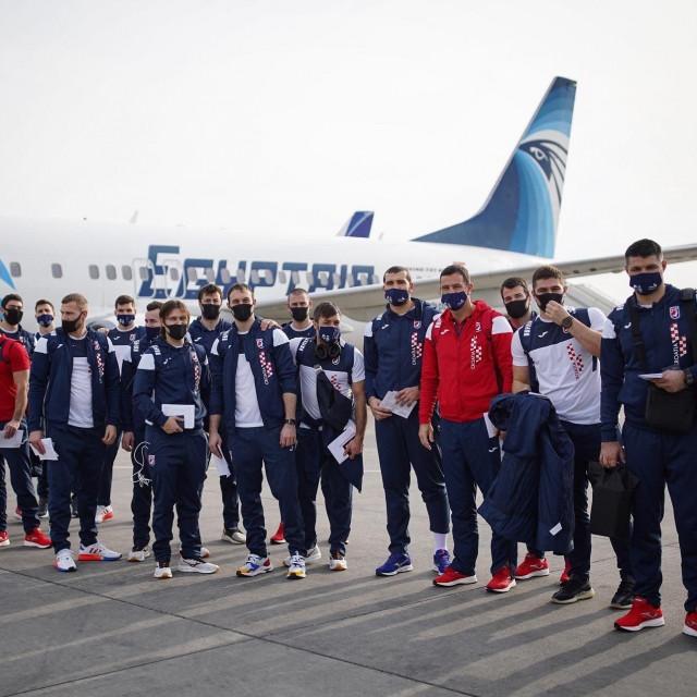 Hrvatski reprezentativci po dolasku u Egipat