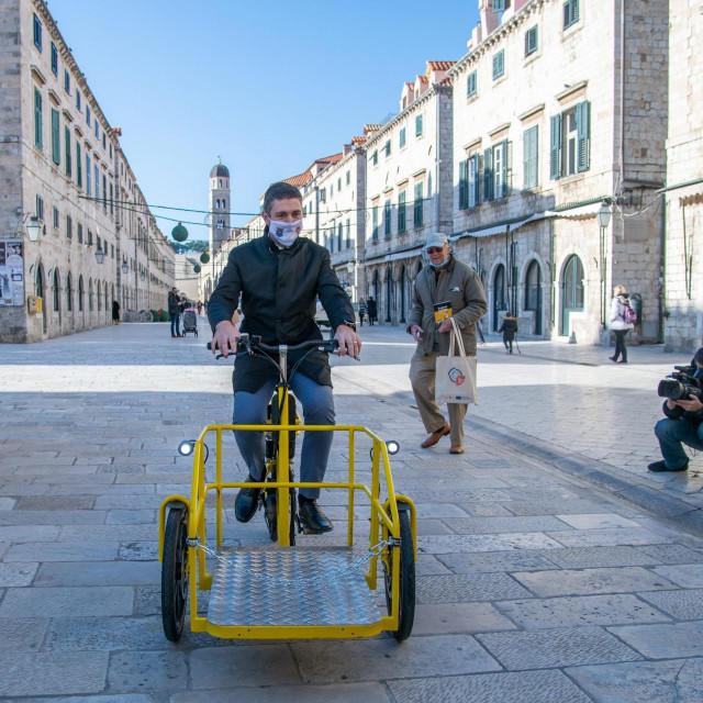 Predstavljanje je EU projekta City Changer Cargo Bike, u kojem je Grad Dubrovnik jedan od partnera<br />