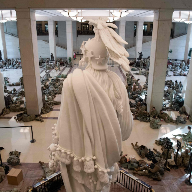 Nacionalna garda u zgradi Kongresa