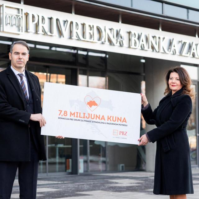 Dinko Lucić, predsjednik Uprave PBZ-a i Vilijana Belas, izvršna direktorica za odnose s javnošću i marketing