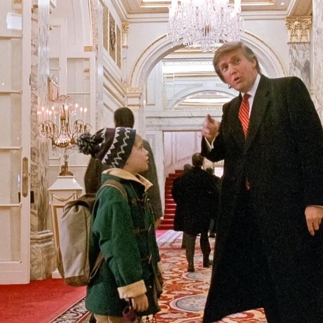 Macaulay Culkin i Donald Trump