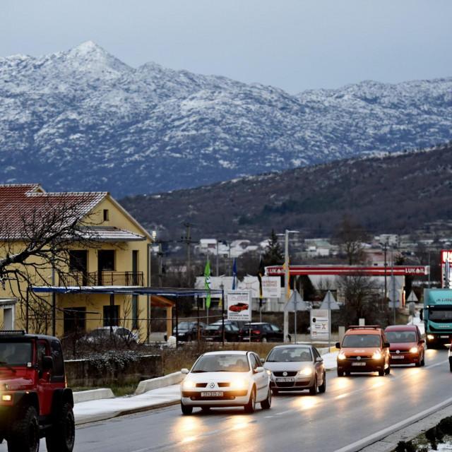 Snijeg u Dalmatinskoj zagori<br />