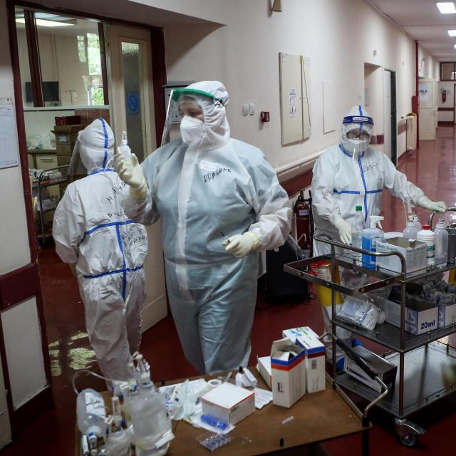 Bolnica u Beogradu (fotografija iz srpnja)