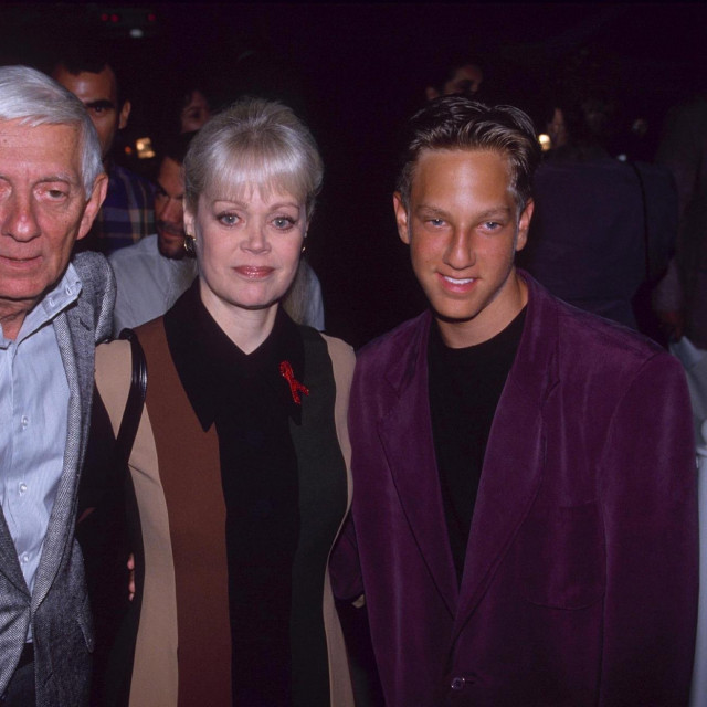 Mandatory Credit: Photo by Dave Lewis/Shutterstock (219202a)<br /> AARON SPELLING WITH HIS WIFE CANDY AND HIS SON RANDY<br /> PREMIERE OF FILM 'AND THE BAND PLAYED ON', LOS ANGELES, AMERICA - SEP 1993
