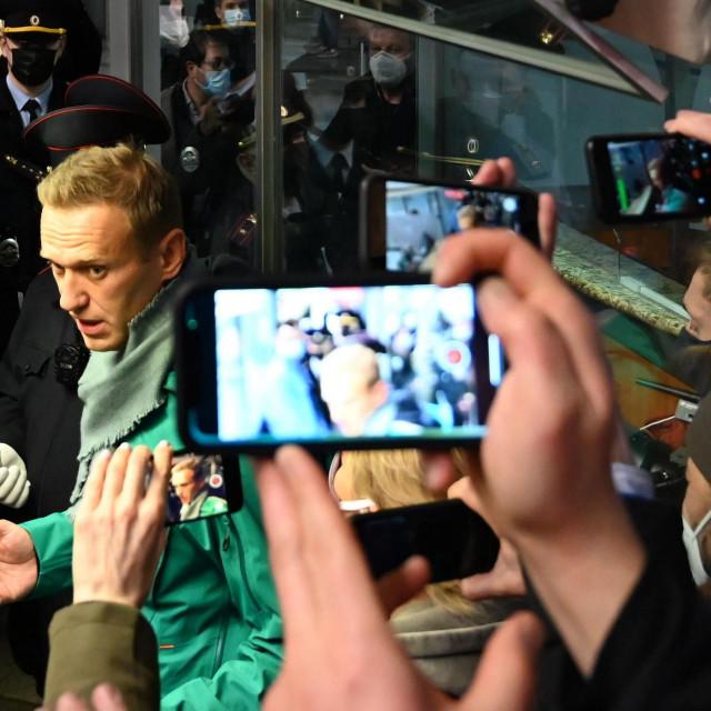 Lider ruske opozicije Aleksej Navalni, priveden je po dolasku u zračnu luku Šeremetjevo