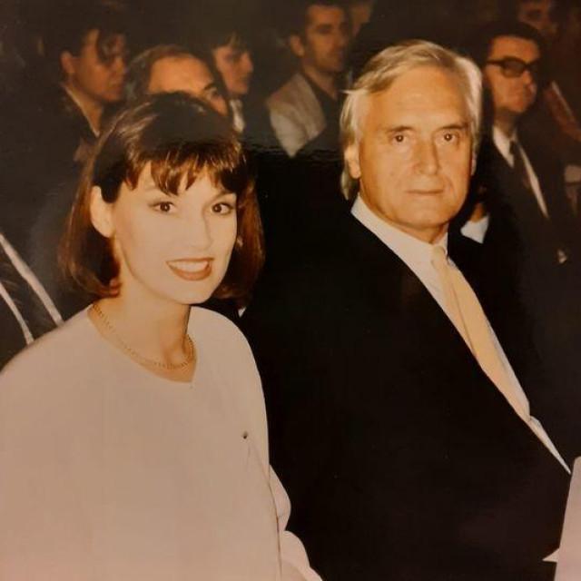 Aleksandra Mindoljević Drakulić s ocem Zdravkom Mindoljevićem na fotografiji koju je uhvatio Vladimir Sviben