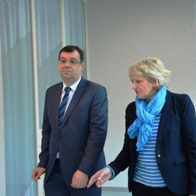 Bjelovarsko-bilogorski župan Damir Bajs i Mira Zakora