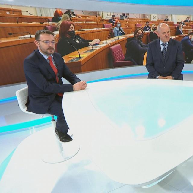 Arsen Bauk i Branko Bačić u programu HTV-a