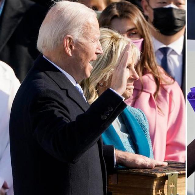 Joe Biden i Kamala Harris tijekom polaganja prisege
