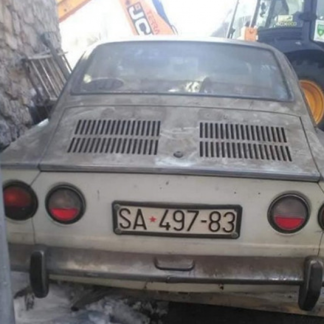 Fiat 850 Coupe pronađen u Sarajevu