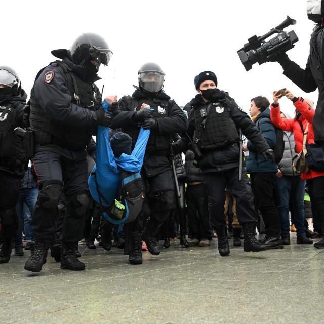 Prosvjedi i uhićenja u Moskvi