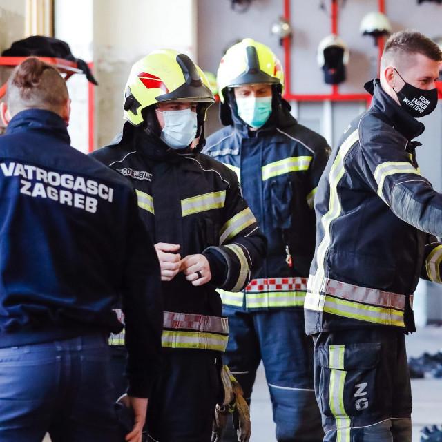 Vatrogasci Javne vatrogasne postrojbe Grada Zagreba u Savskoj