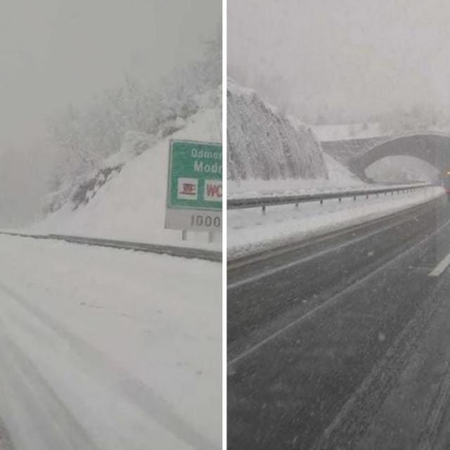 Snijeg na autocesti A1
