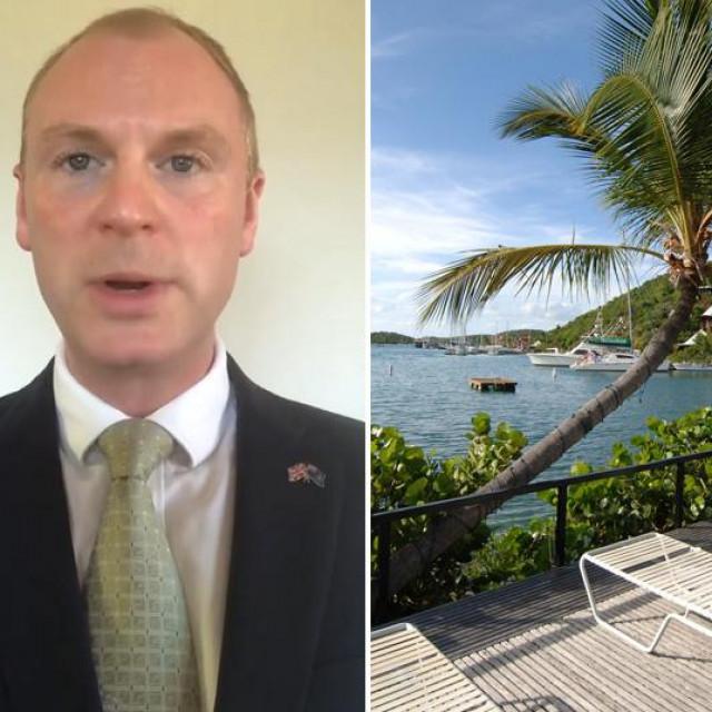 Prizori s Britanskih Djevičanskih otoka i Gus Jaspert