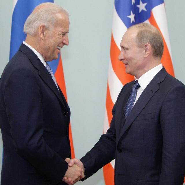 Joe Biden i Vladimir Putin (arhivska fotografija)