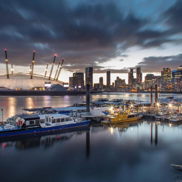 Panorama Londona, dvorana O2 u pozadini