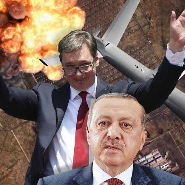 Aleksandar Vučić, Recep Tayyip Erdogan, dronovi