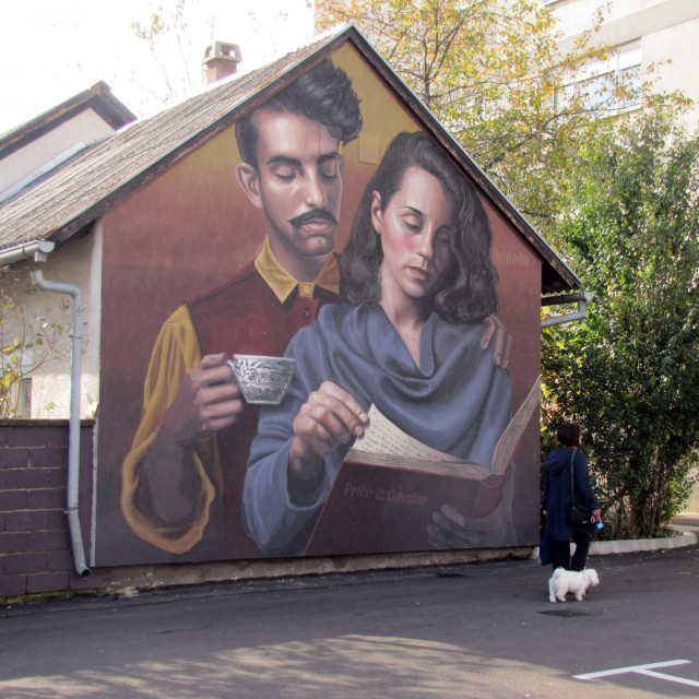 jedan od murala u Sisku (arhiva)