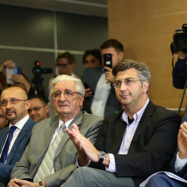 Miroslav Tuđman i Andrej Plenković