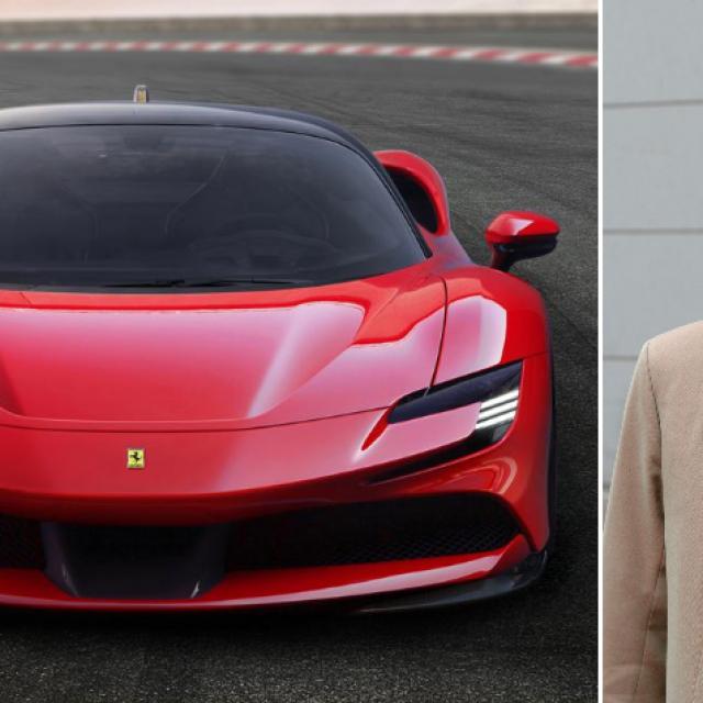 Ilustracija: Ferrari, John Elkann