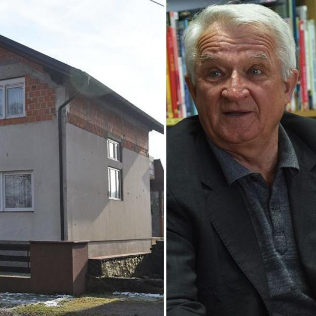 Kuća obitelji Jednak u Glini u kojoj danas živi Ana Sremić Naglić, kćerka bivšeg gradonačelnika Marka Sremića (isto na fotografiji)