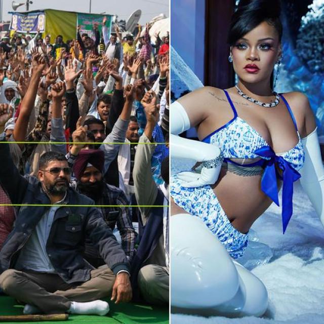 Kangana Ranaut, prosvjed farmera u Indiji, Rihanna