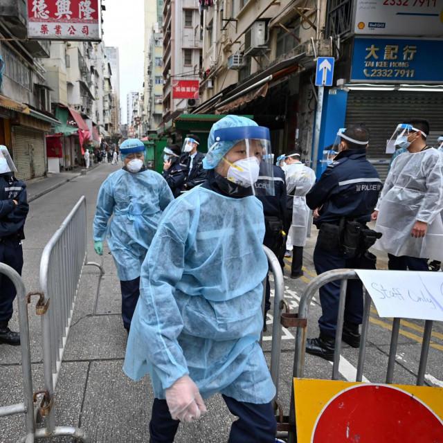 Operacija u gusto naseljenoj četvrti Jordan u Kowloonu