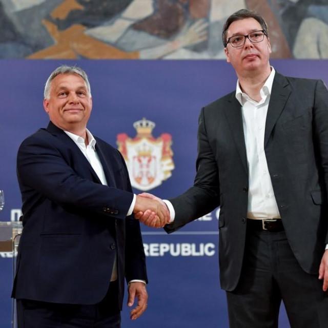 Viktor Orban i Aleksandar Vučić