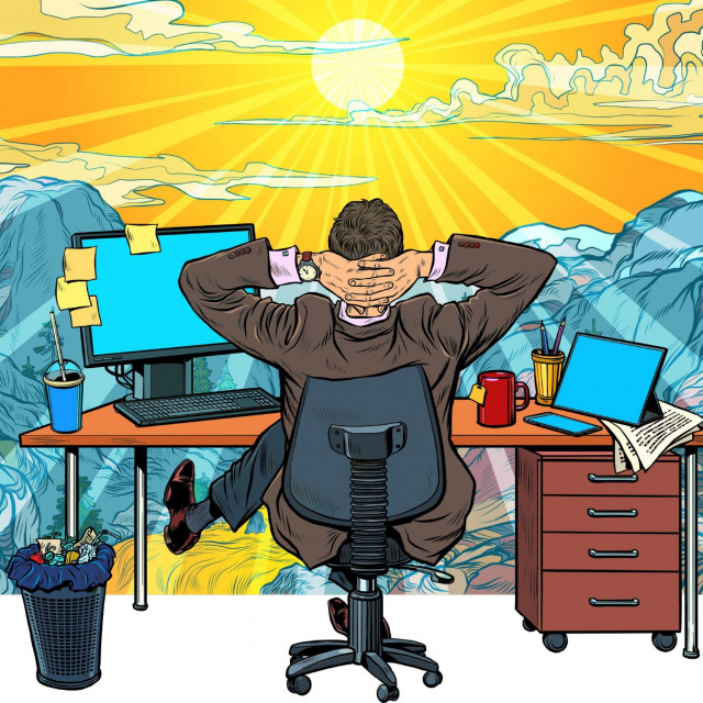 Rad od kuće, ilustracija