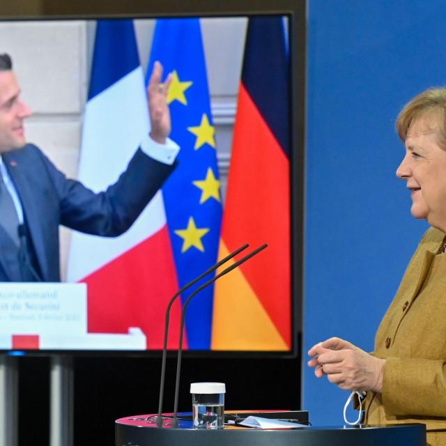 Konferencija Emmanuela Macrona i Angele Merkel