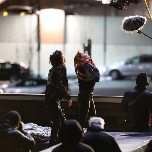 "Timothee Chalamet i Jennifer Lawrence na setu filma ""Don't Look Up"""