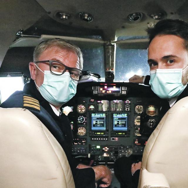 Zrakoplov Air Pannonije i piloti Goran Habscheid i Toni Korać