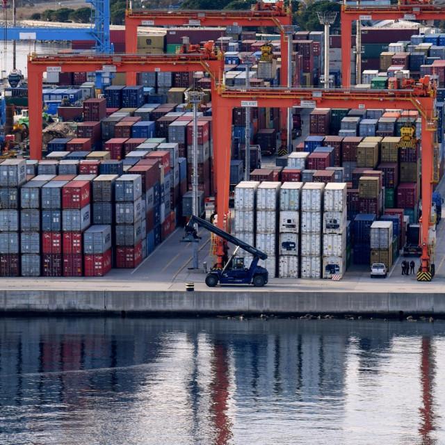 Luka Rijeka, kontejnerski terminal Brajdica.<br />