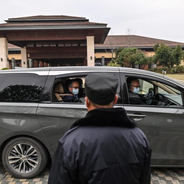 Odlazak tima WHO-a iz Wuhana