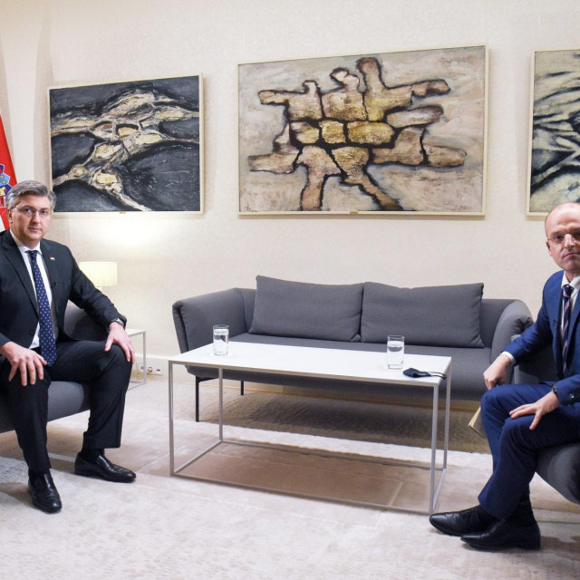 Andrej Plenković i Mislav Bago