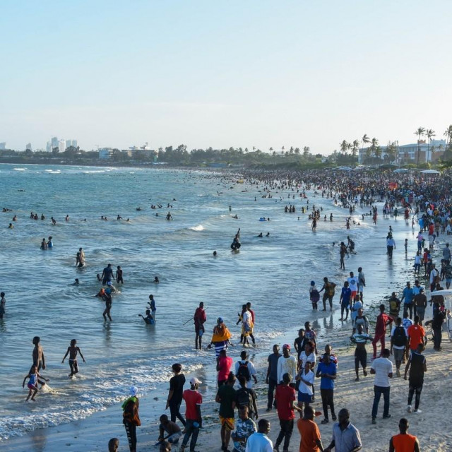 Prizor s plaže u Dar es Salaamu u Tanzaniji