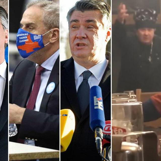Andrej Plenković, Milan Bandić, Zoran Milanović, Željko Kerum, Davor Filipović, Damir Vanđelić