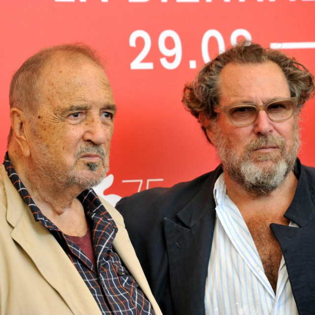 Jean-Claude Carrièr i Julian Schnabel na Venecijanskom filmskom festivalu 2018. godine