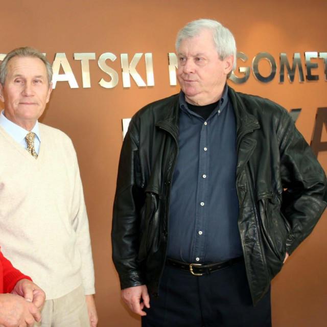 Mile Tomljenović, Marijan Brnčić i Mladen Vranković