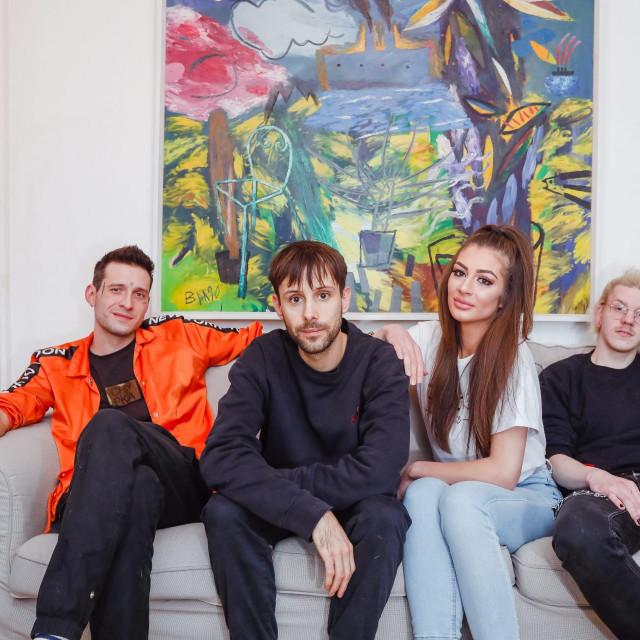 Pjevačica Brigita Vuco sa svojim glazbenim timom kojeg čine Ivan Godina, Arian Vuica i Dorian Brezak<br />