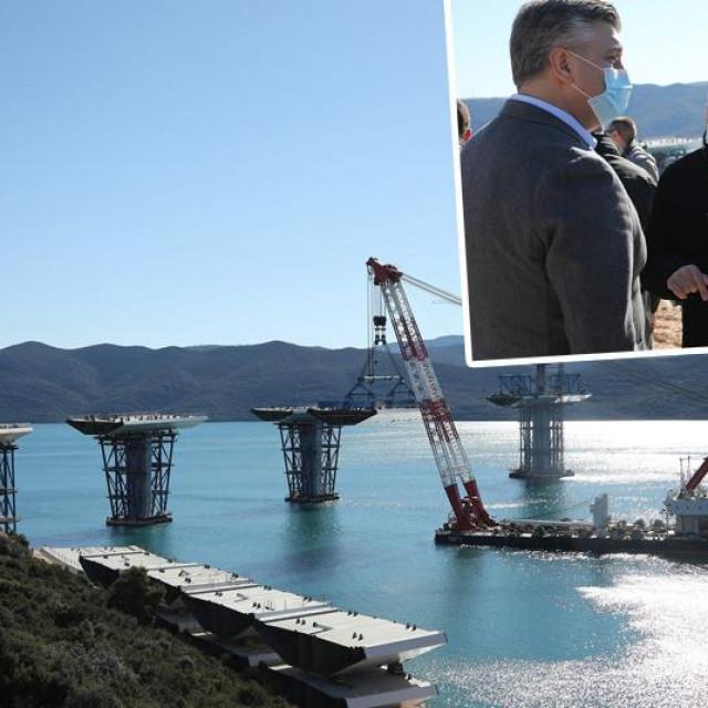 Gradilište Pelješkog mosta u Komarni