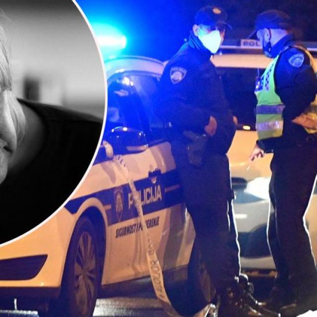 Ilustracija, policija i starija žena