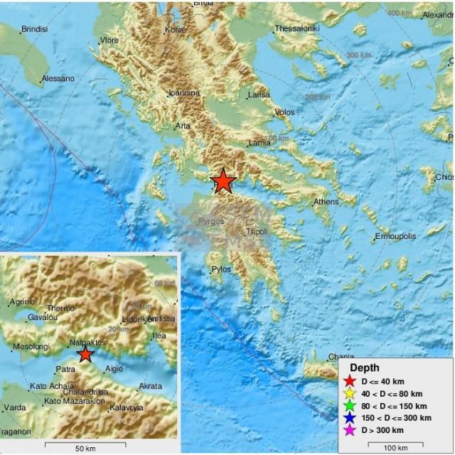 Potres u Grčkoj