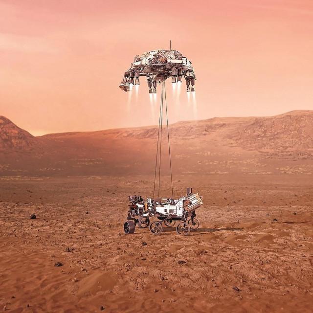 Ilustracija idealnog slijetanja Perserverancea na Mars
