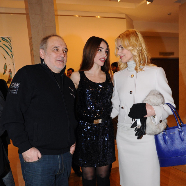 Đorđe Balašević i Olivera s kćerkom Jovanom.